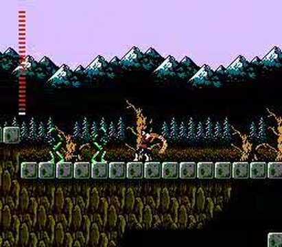 Castlevania II: Simon's Quest - вымерший лес