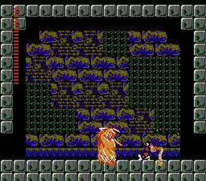 Castlevania II: Simon's Quest - схватка со смертью (Grim Reaper)