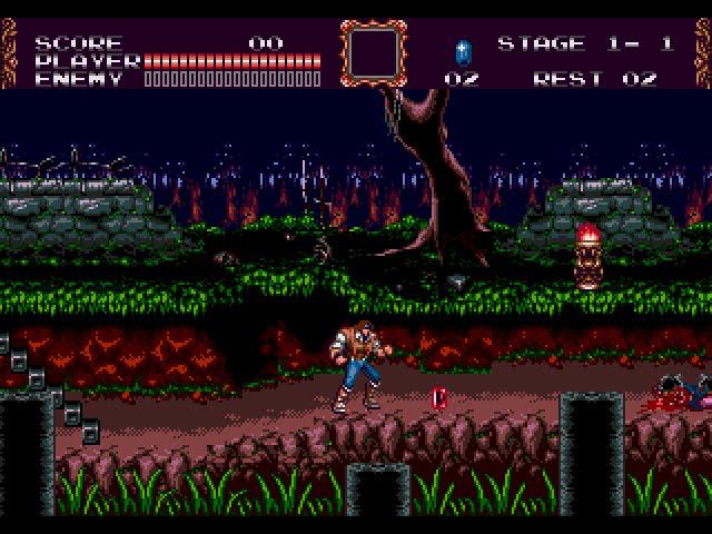 Castlevania: Bloodlines - Джон Моррис в лесу