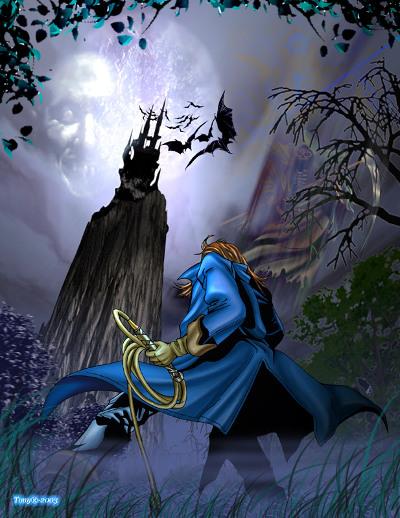 Castlevania: Dracula X (Rondo of Blood) - Ричтер перед замком Дракулы