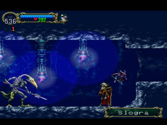 Castlevania: Symphony of the Night / Симфония ночи - screenshot - бой со странным скелетом