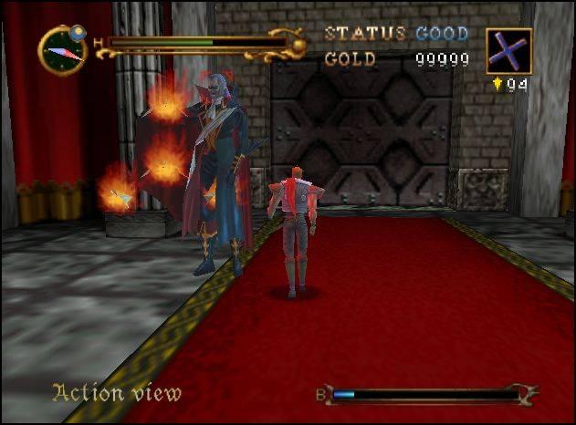 Castlevania 64 - встреча с Дракулой