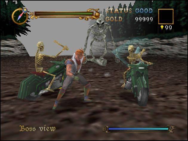 Castlevania 64 - схватка с боссом на первом уровне