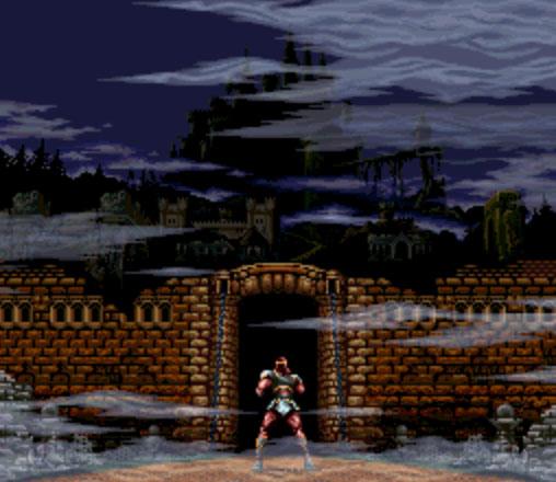 Super Castlevania IV - Саймон у входа в замок Дракулы