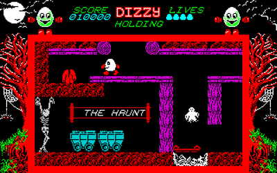 Dizzy: The Ultimate Cartoon Adventure - DizzyAGE Remake - в пещере, скелет